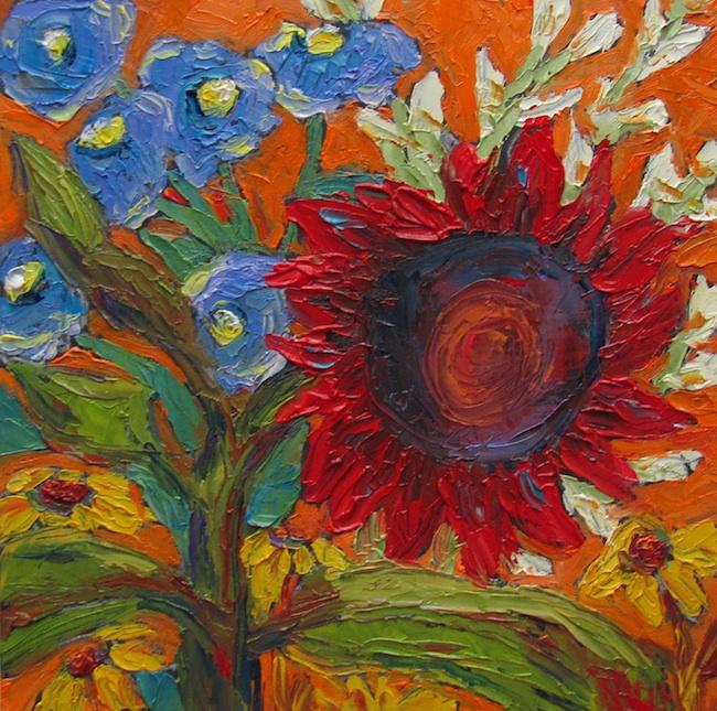 Title: Sunflower Bouquet 7 Medium: Oil Painting Size: 6x6