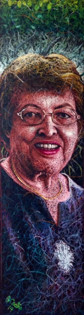 "TitleMyrna Baez   Medium	Oilstick   Size	11""x48"""