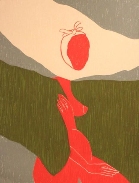 "TitleI am a female. I am an artist. I am a female artist - 2   Mediumsoft pastel on watercolor paper   Size22"" x 30"""