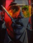 "Brian Henry – Metairie, LA Title""feAr""   MediumAcrylic Paint Pens on Canvas   Size24""x30"""
