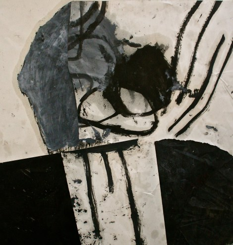 """Titletowards before the past   Mediumoil on paper collage   Size36"""" x 37"""""""