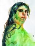 Oliver Quinto – Sao Paulo, Brazil TitleAna   MediumWatercolor   SizeA3