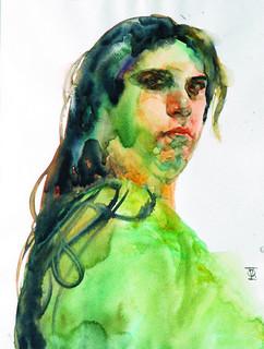 TitleAna   MediumWatercolor   SizeA3