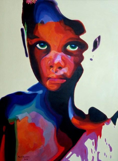 TitleGirl With Green Eyes   MediumOil on Canvas   Size30x40 inches