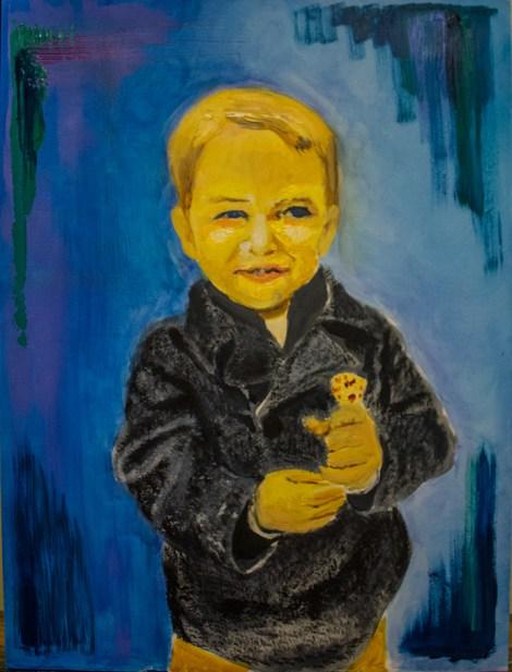 """Titlehank   Mediumoil paint   Size18""""x24"""""""
