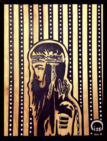 Title Untitled   Medium Spray paint on wood panel   Size 16x20