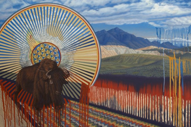 Title Home On The Range   Medium Oil on wood Panel   Size 24 x 36 inches