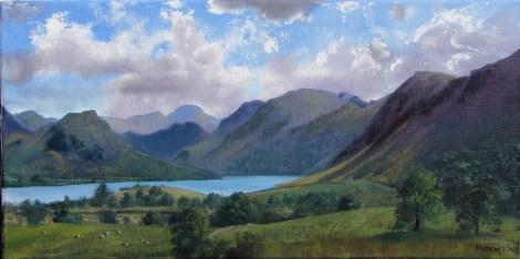 Title:Plein air sketch - In the Crummock Valley 10.7.14 Medium:Oil Size:25x50 cms