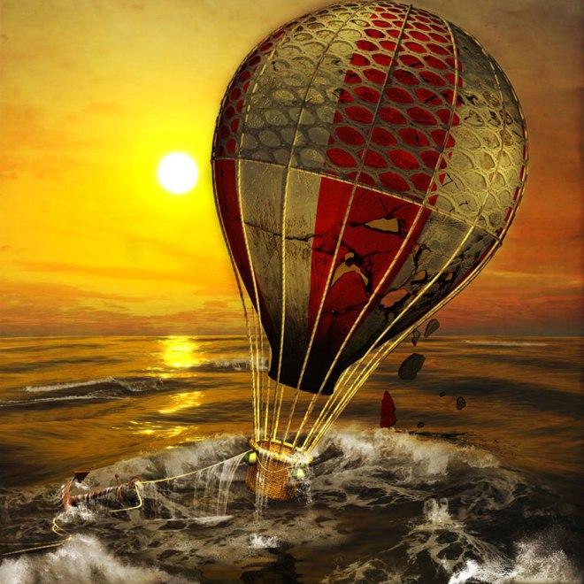 Title Crumbling Balloon   Medium Digital   Size 35 cm x 35 cm