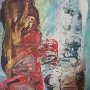 Title: Conversation Medium: Acrylic on canvas Size: 46 cm (W) x 61 cm (H) x 1.5 cm