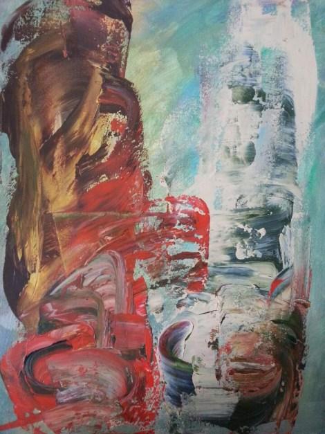 Title:Conversation Medium:Acrylic on canvas Size:46 cm (W) x 61 cm (H) x 1.5 cm