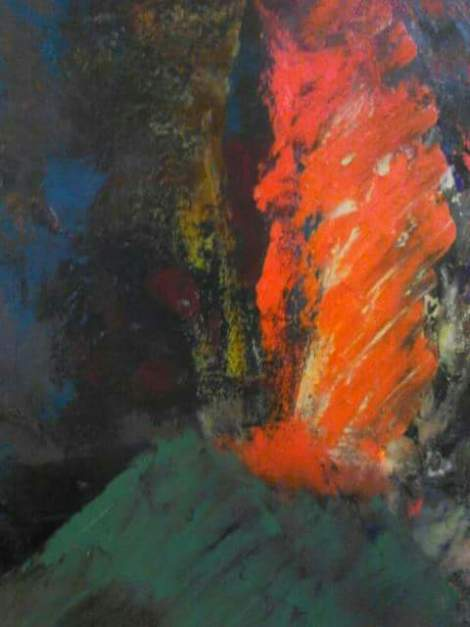 Title:daybreak Medium:Oil on canvas Size:35.8 H x 28.6 W x 1.0 (inches)