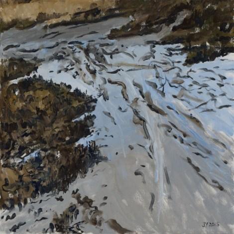 "Title:Winter Path Medium:Oil on Canvas Size:20"" x 20"""