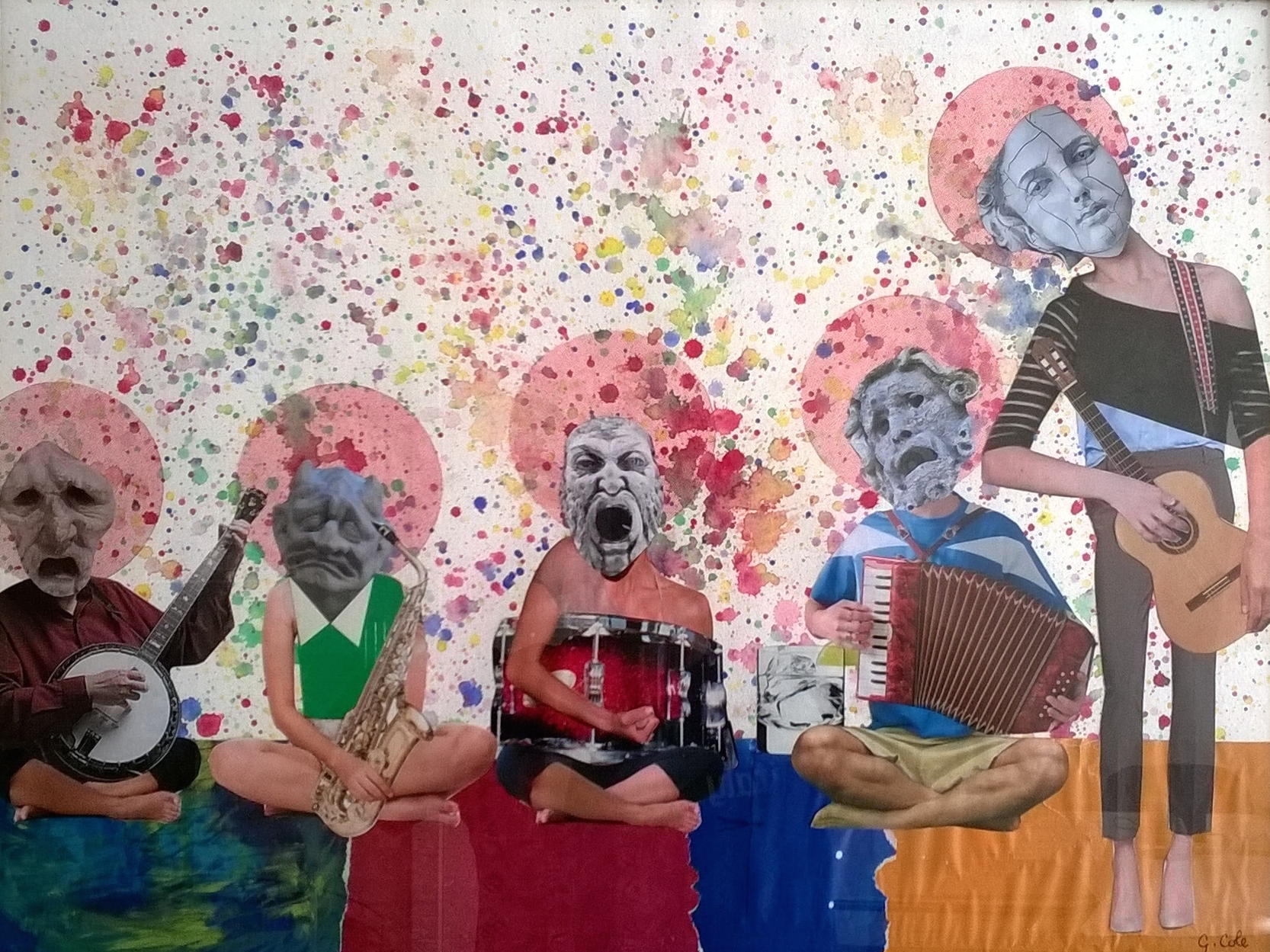 Title: The Nightmare band Medium: Mixed Media Size: 18 Inches x 24 Inches