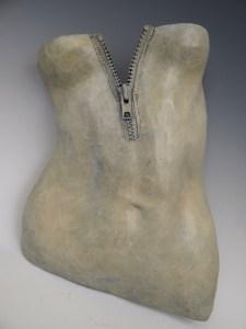 "Title:Zip it! Medium:Bronze sculpture Size:17""x11""x4"""