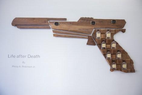 Title:Feburary 16, 2006 Medium:Wood, Metal, Glass Size:7'x4'