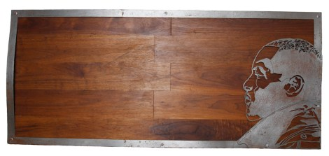 "Title:Return of the King Medium:Wood, Metal Size:5'x28"""