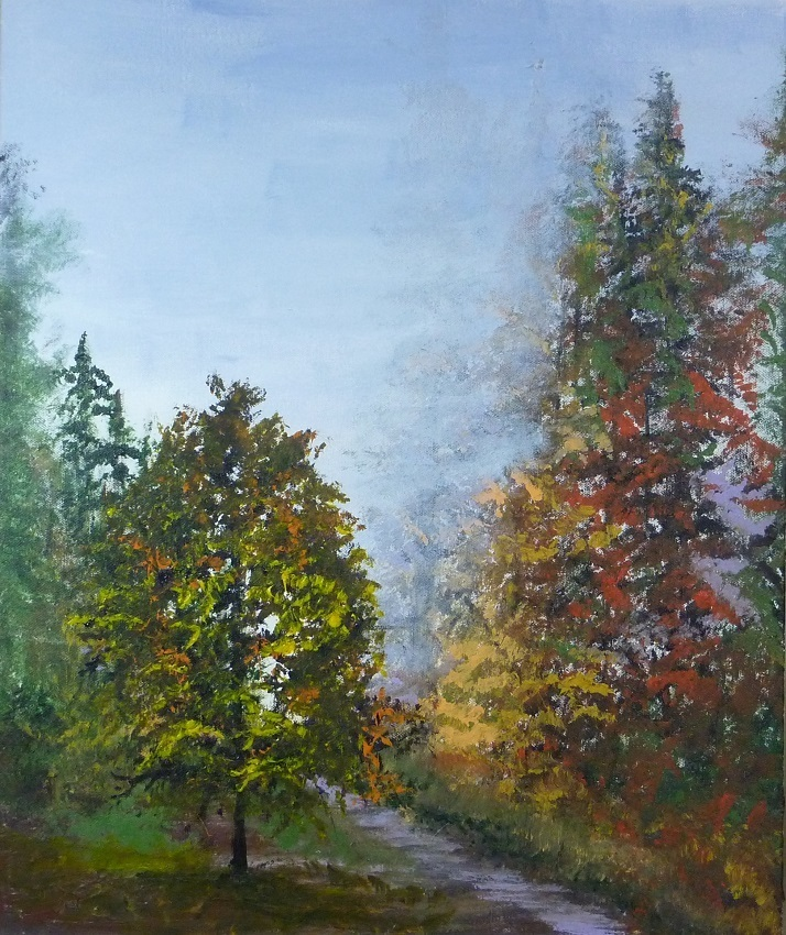 Title: Autumn Leaves Medium: Acrylic on canvas Size: 50X60cm