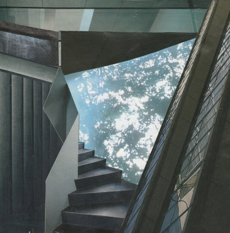 Title:Secret Places: Upstairs Medium:collage Size:21x21cm