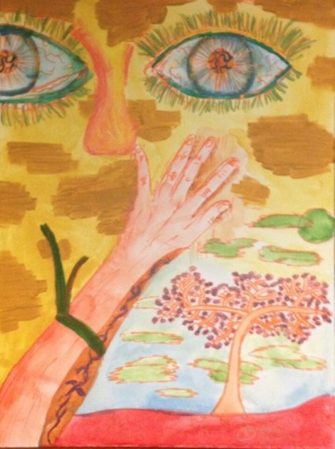 """Title:Becoming Nature Medium:Acrylic Size:24"""" by 18"""" (114 KB)"""
