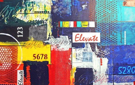 Title:Elevate Medium:	Mixed media on illustration board Size:	20 x 30