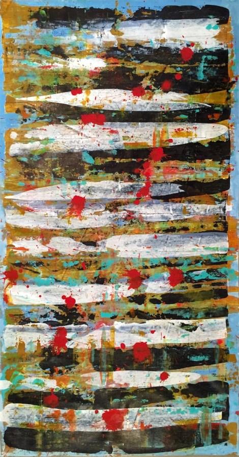 Title:Crossing Medium:Acrylic on canvas Size:115x62