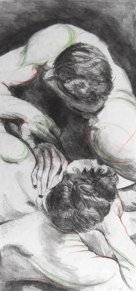 Title:Struggle Medium:graphite and prismacolor Size:20 x 11 inches