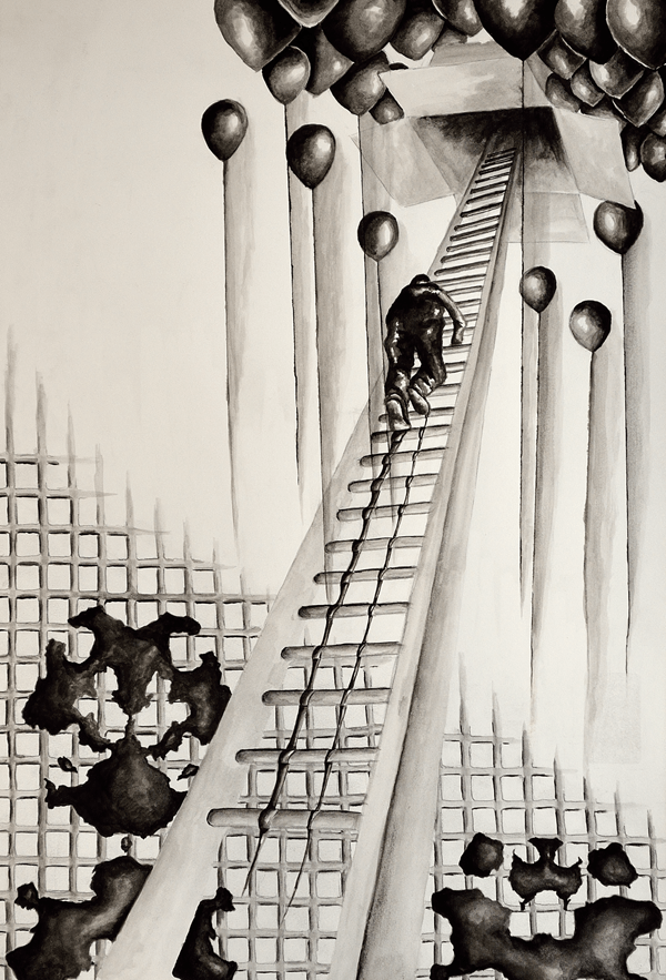 Title: REM-Sleep Medium: India Ink Size: 18x24