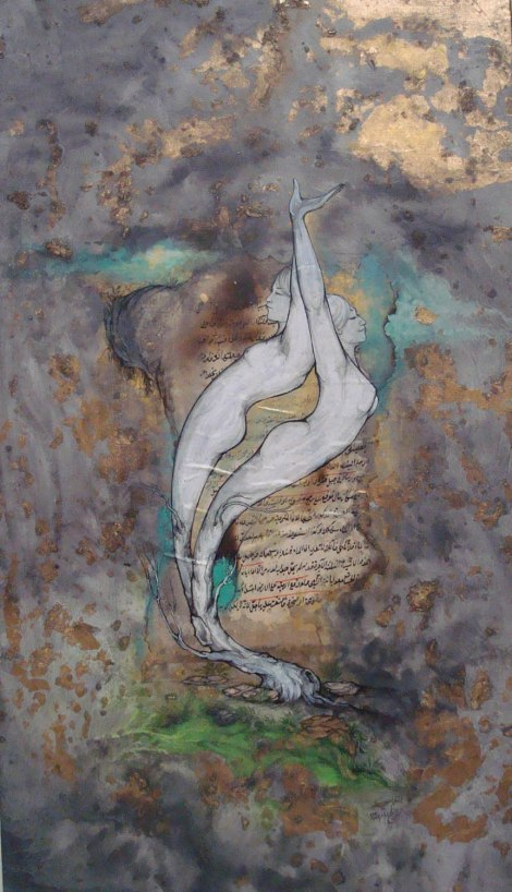 Title Germination Medium Gouache, watercolor, acrylic Size 65 x 40 cm