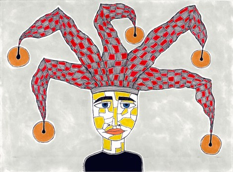 Title:Untitled Medium:Pen, India and Acrylic Ink on Paper mounted on Cradled Board Size:56cm x 76cm x 4cm