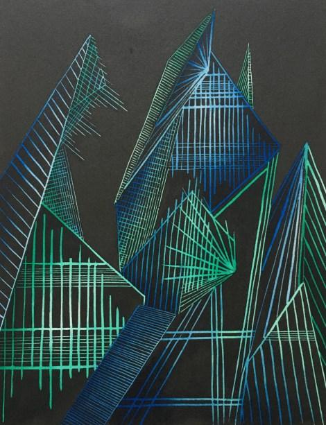Title:Creation Medium:Linoleum Print, colored ink Size:11x15