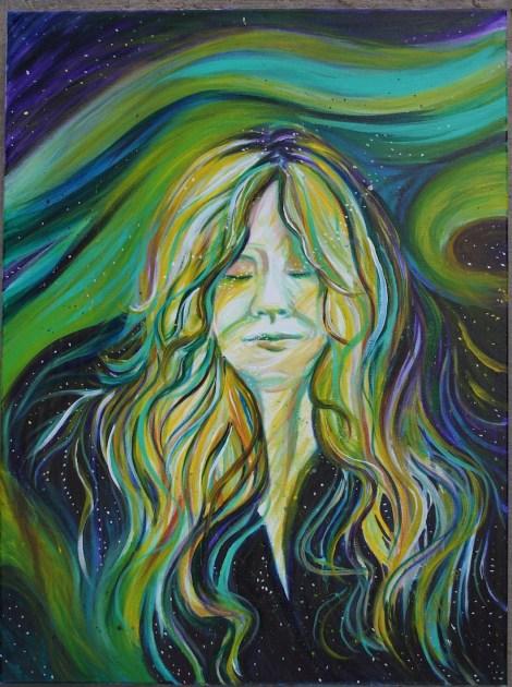"Title:Aurora Goddess Medium:Acrylic Size:18""x24"""