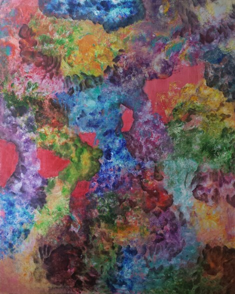Title:Internal Landscape Series-12 Medium:Acrylic Size:48in x 60in