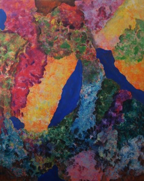 Title:Internal Landscape Series-13 Medium:Acrylic Size:48in x 60in