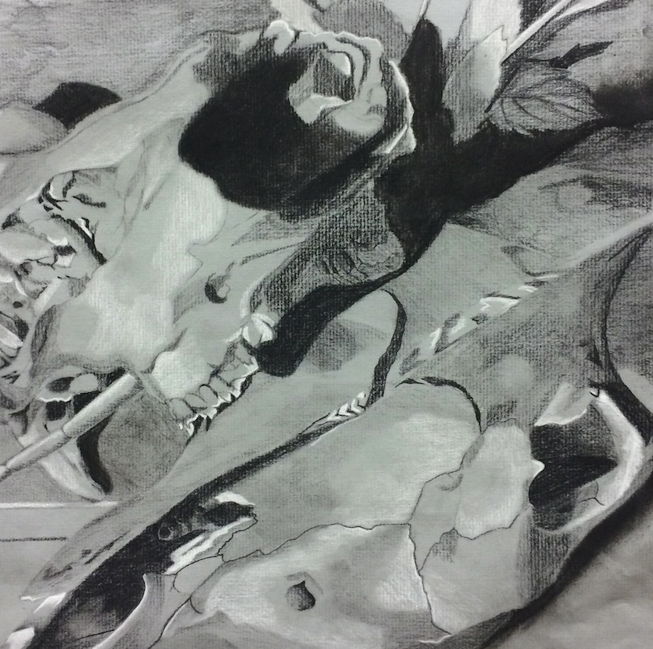 Title: The Empress Medium: charcoal and white conte Size: 9x12