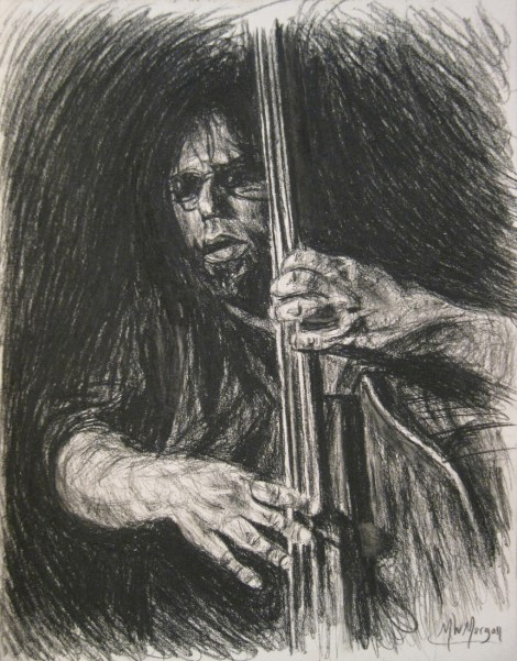 """Title:Chris Brydge In Charcoal Medium:charcoal Size:11"""" x 8-1/2"""""""