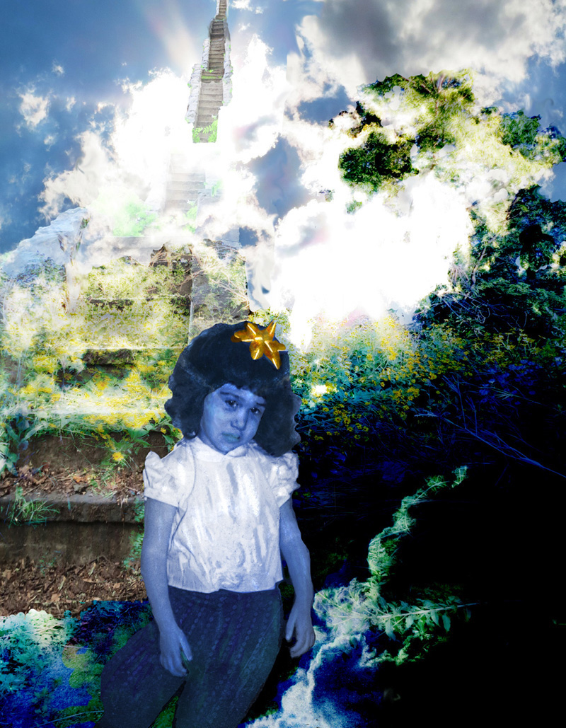 Title: Looking for the face I had before the world was made Medium: digital photo manipulation Size: 14 x 18