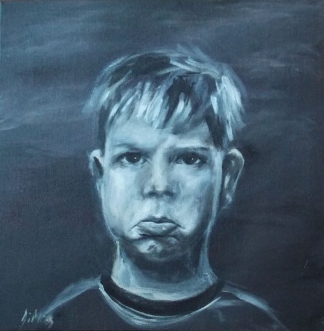 Title: Jack Medium: Acrylic on canvas Size: 10''x 10''