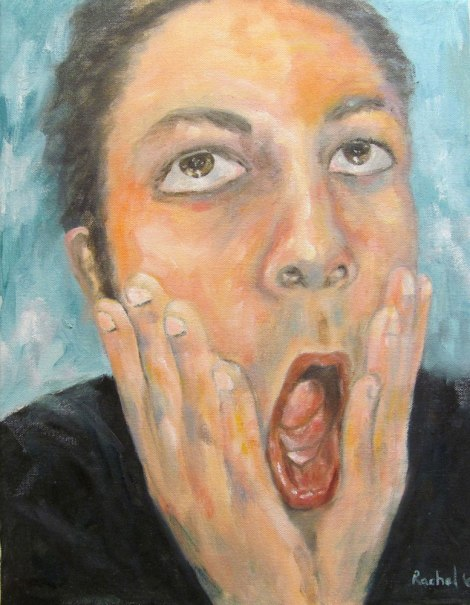 Title:Shocked Medium:	Oil Size:	18x14