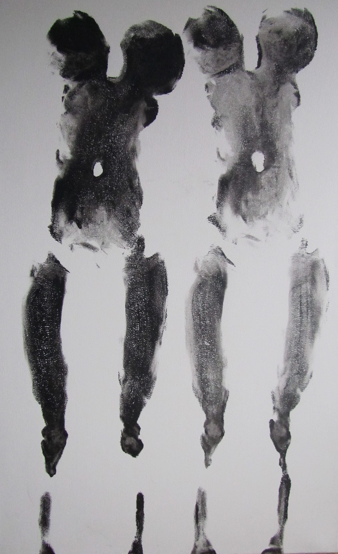 Title: Gone (Together) Medium: Acrylic Size: 48''x 24''
