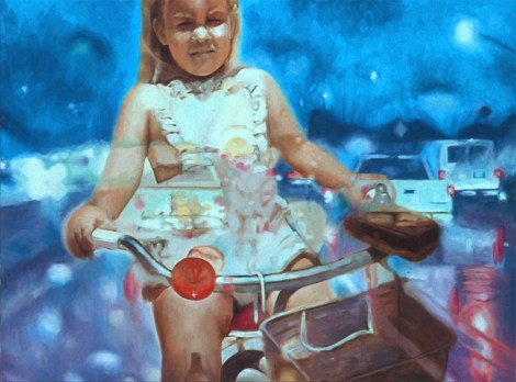 """TitleLessons in Autonomy   Mediumoil on canvas   Size18"""" x 24"""""""
