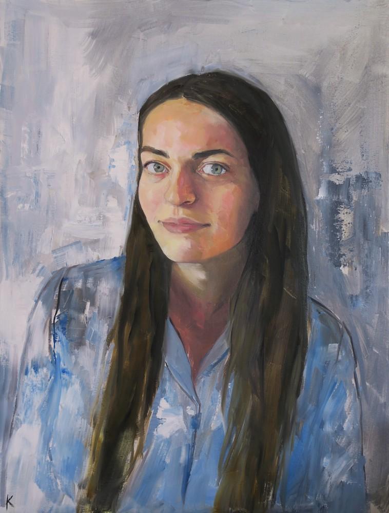 Title Anastasia Medium oil on canvas Size 18 x 24