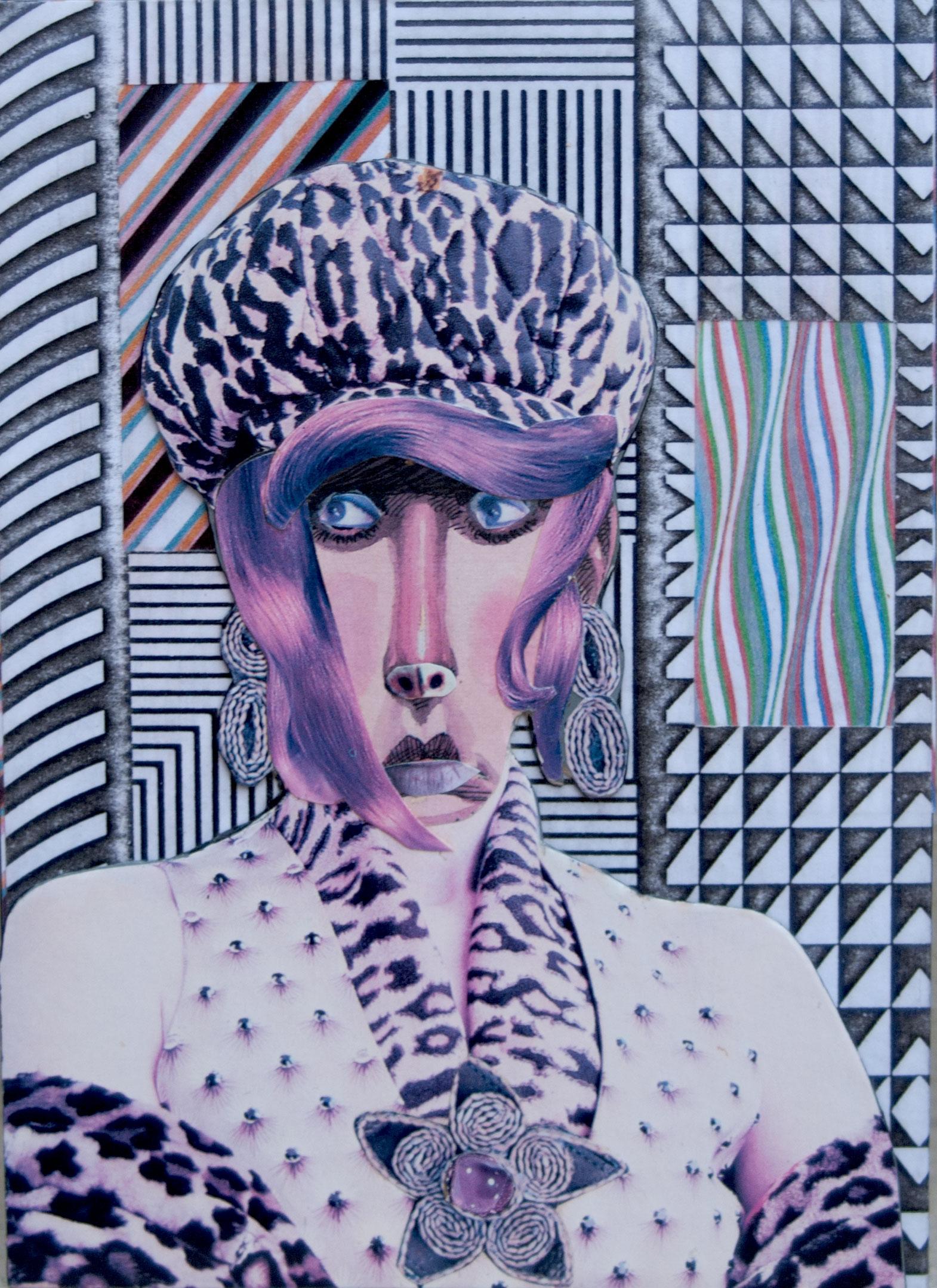 "Title Ms. Tress Medium Collage Size 7"" X 5"""