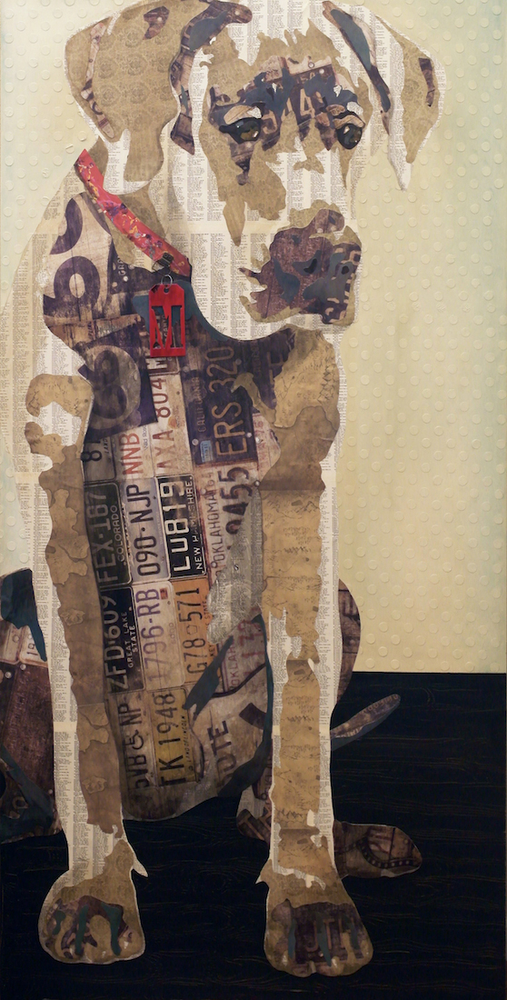 "Title Sit Medium Mixed Media Collage Size 36"" x 72"""