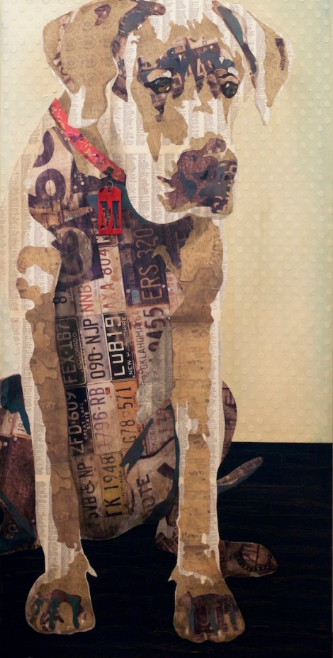 "TitleSit   Medium	Mixed Media Collage   Size	36"" x 72"""