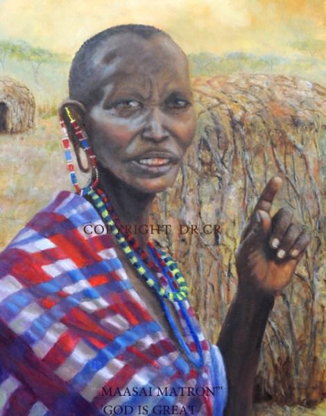 TitleMaasaii Matron,,,(kenya)   Mediumoil   Size28x22