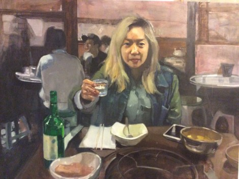 "TitleSoju   Medium	Oil   Size	40""x30"""