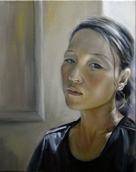 "TitleSelf Portrait   Medium	oil on canvas   Size	16""X20"""