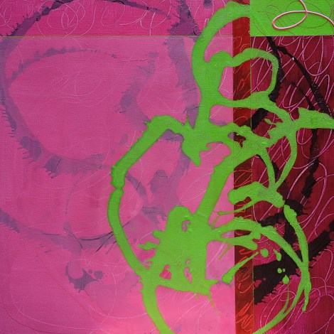 "Title:Scarlet Medium:Acrylic & Mixed Media on Gallery Wrap Size:24x24"""