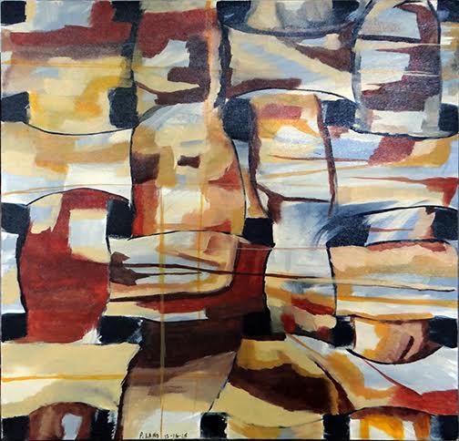 Title: Cafe Au Lait Medium: Acrylic Size: 20x20